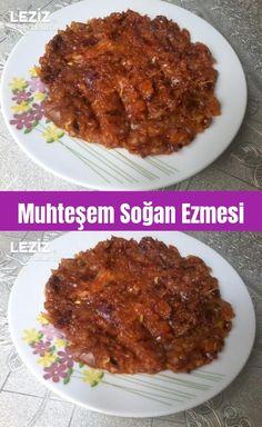 Muhteşem Soğan Ezmesi – Leziz Yemeklerim – Kolay yemekler – The Most Practical and Easy Recipes Turkish Delight, Turkish Recipes, Churros, Pasta, Brunch, Food And Drink, Beef, Vegan, Cooking