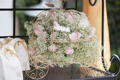 Carriage with Roses. For Once Upon a Time themed baby shower Photo By Crystal Worley Photography