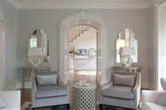 Classic Living Room by Nightingale Design @Sarah Chintomby Nasafi Grayce