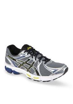 ASICS CharcoalBlackLime Mens Gel-Exalt 2 Running Shoe