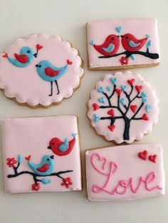 So sweet and unique! Valentine cookies The Lovebirds collection | Cookie Connection