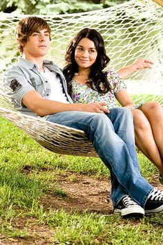 Troy and Gabriella from High School Musical 3. I always thought they were a cute couple:)