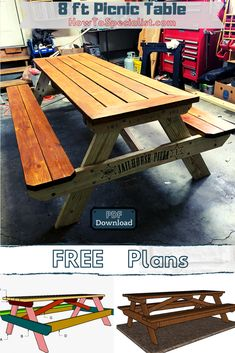 This step by step woodworking project is about 8 foot picnic table plans. I have designed this picnic table so you can get the job done in one weekend, using just and Moreover, you can really get the job done using basic household tools. Pallet Picnic Tables, Build A Picnic Table, Rustic Modern, Modern Farmhouse, Wood Putty, Shopping Lists, Wood Screws, Diy Table, Woodworking Projects