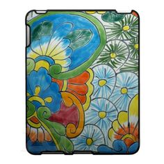 I want this! Painted Folk Art  Flowers iPad Cover