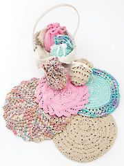 Knit - Knitted Round Facecloths & Soap Sacks - #RAK0924