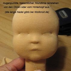 A picture tutorial on how to make this amazing doll face. Stop here -- do not paint the face (as the tutorial goes on to do)!