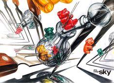 #유리#유리병#나무#금속#레드#노랑#그림자#입시미술#디자인#기초디자인#미대입시#미술학원#스카이미술학원#강동스카이미술학원#합격작#수상작#강동구미술학원 Art Drawings, Past, Objects, Perfume, Past Tense, Fragrance, Art Paintings