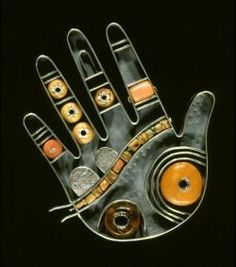 Brooch | Kiff Slemmons.  Ramona (1991) from the Hands of the Heroes series.