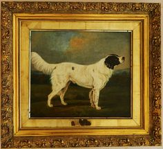 19C oil painting of a Newfoundland dog. Attributed to Edwin Landseer