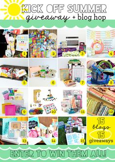 Kick Off Summer Giveaway! 15 different summer themed prizes up for grabs!!  Lots of good stuff.
