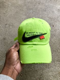 "7addac7e27e OFF-White for NIKE ""AIR FORCE 1"" VOLT - DAD HAT - We"