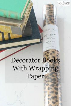 Wrapping Books with Gift Wrap #homedecor #cute