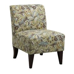 Would love this in the entryway with a table for keys sunglasses, etc. & wall hooks or coat tree.  Armless Accent Chair - Kinsey Peacock at Big Lots.