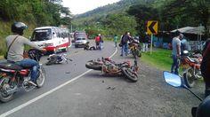 El incidente se presentó en la mañana de este sábado cuando dos motos chocaron de frente donde en una de las curvas de la vía Panamericana.
