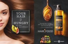 Hair – Dakota Collection Hair Food HairCare Advertising - Station Of Colored Hairs Ads Creative, Creative Advertising, Car Advertising, Advertising Design, World Hair, Dakota, Beauty Ad, Cosmetic Design, Cosmetic Packaging