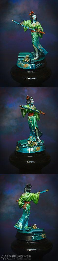Geisha Assassin [Dark Sword Miniatures]   painted by Ańa, 2012