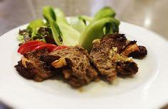 Denné menu Vranov |  Marinované sójové plátky plnené vaječnou fašou, dusený šalát paksoy - reštaurácia Hotel Patriot*** #hotel #restaurant #food #lunch