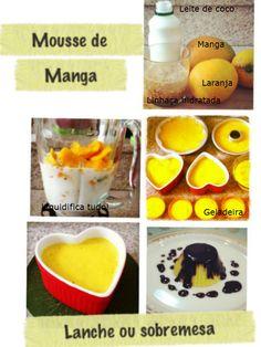 Ingredientes: - 2 mangas pequenas bem maduras - 1 vidro pequeno de LEITE DE COCO - 2 colheres de sopa de linhaça hidratada (deixar de molho na água de um dia para o outro) - 1 laranja - 1 colher de sopa de mel de abelhas  Modo de fazer: liquidifica tudo, leva na geladeira (ou congelador se quiser tipo picolé)