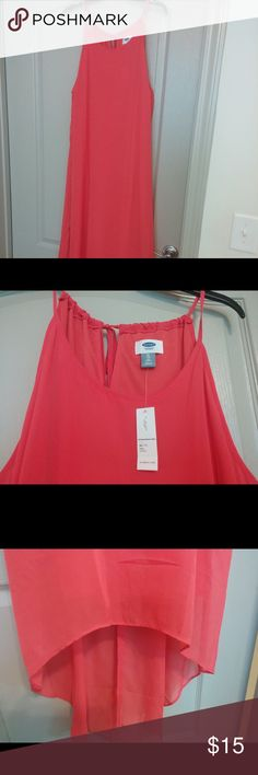 NWT hi lo coral chiffon dress XL tall NWT from old navy. Old Navy Dresses High Low