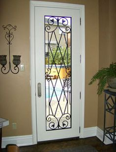 faux wrought iron door inserts - Google Search