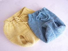 """Wool diaper covers are """"lanolized"""" making them water and bacteria resistant soakers for baby.    What a great gift for a mom who loves doing things naturally  Ex-Large and Medium Cover, front view."""