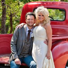 Not a country music fan, but love these two together, and especially love that she's wearing her mama's dress.