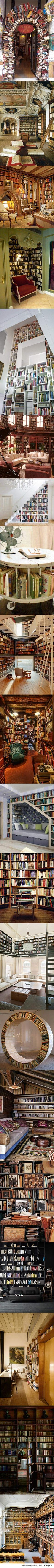 Amazing bookcases and Libraries