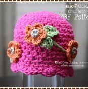 Hat Crochet Pattern - MIRIAM - via @Craftsy