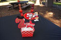 Mickey Mouse Centerpiece.  49ers Centerpiece.  Football.
