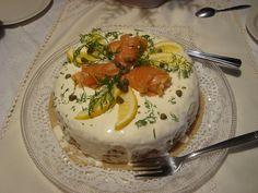 Mother´s Day cake salmon Panna Cotta, Salmon, Ethnic Recipes, Desserts, Food, Tailgate Desserts, Deserts, Essen, Dessert