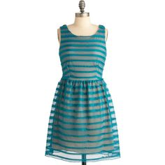 Laces Everyone in Teal Stripes found on Polyvore