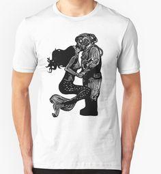 Entre terre et mer, l'amour n'a pas de frontières. Achetez ce t-shirt homme sur Redbubble et découvrez des milliers d'autres artistes indépendants.  Design : « My Underwater Love » par Ieuan  Edwards