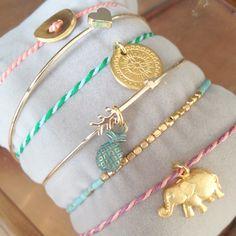 22kgold , bracelets. Lucky elephant. Fine jewelry by SOOS