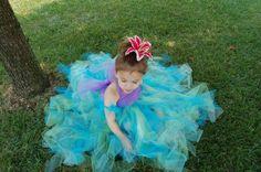 The ORIGINAL Ariel inspired tutu dress bue by 3littleprincesstutus, $68.99