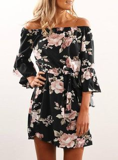 Backless Floral Print Summer Dress 2018 Sundress ad8312053628