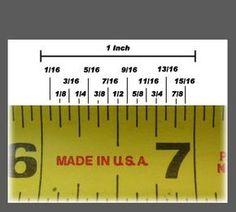 Comparison of fractions dollhouse reference Window Shade Measuring Instructions For A Perfect Fit Reading A Ruler, Tape Reading, Carpentry Tools, Woodworking Projects, Ruler Measurements, 3d Cnc, Construction Tools, Diy Home Repair, Tape Measure