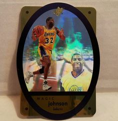 Magic Johnson Basketball Card 1996 Gold SPx LA Lakers Die Cut Holographic HOF #LosAngelesLakers #forsale #magicjohnson #basketballcard #SPx #upperdeck #lakers #lalakers #ebay #sportscard #cardcollector #vintage #nba #rarecard http://ow.ly/yhoW306Z54H