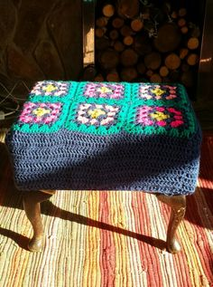 Crochet foot stool cover & How Iu0027ll cover the foot stool.... | Mummy by day... HOOKER by ... islam-shia.org