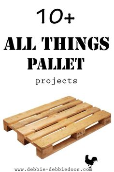 All things Pallet projects from my own archives. Shelves, garden, table top ideas and more! #debbiedoos