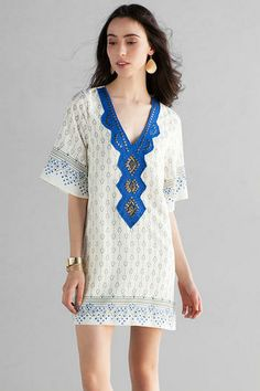 San Angelo Embellished Shift Dress