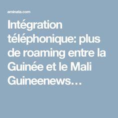 Intégration téléphonique: plus de roaming entre la Guinée et le Mali Guineenews…