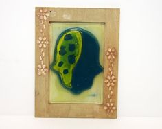 Hamsa Home Blessing wall hanging   Fused glass by virtulyglass