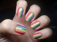 I don't know if you could adapt this for short nails, but it looks too amazing not to try it.