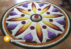 Onam Pookalam, Onam Pookalam 2018, onam 2018, onam 2019, onam 2020, pookalam 2019, pookalam 2020 Rangoli Designs Simple Diwali, Rangoli Designs Flower, Flower Rangoli, Beautiful Rangoli Designs, Onam Greetings, Onam Pookalam Design, Onam Wishes, Onam Festival, Happy Onam