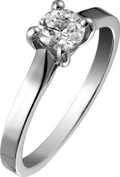 #Engagement #ring G34LK500 in platinum with brilliant-cut #diamond