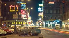 Air France, Radios, French Photographers, Vintage Photography, Vienna, Austria, Vintage Photos, Signage, Times Square