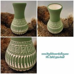 for more information about this Etched Pot In Matte Finish Of Sage Green By H Benally ~ Navajo. Please visit http://www.eagledancergallery.com/ or give us a call at the gallery (281) 332 - 6028