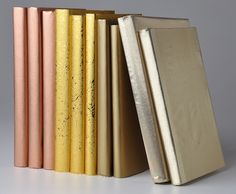 metallic wrapped books from Juniper Books