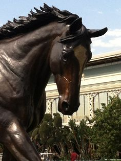 The Zenyatta Statue at Santa Anita - just unveiled today, 9/29/12.