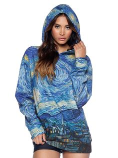 Starry Night Hoodie - LIMITED (US ONLY $120USD) by Black Milk Clothing